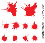 vector red scratched  crumpled... | Shutterstock .eps vector #177297959