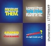 set of typographic backgrounds. ... | Shutterstock .eps vector #177298649