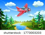 plane fly in the sky  over the... | Shutterstock .eps vector #1773003203