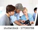 teacher in class of photography ... | Shutterstock . vector #177303788