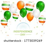 indian independence day with... | Shutterstock . vector #1773039269