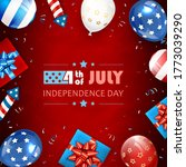 independence day background.... | Shutterstock . vector #1773039290