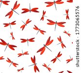 Dragonfly Flat Seamless Patter...