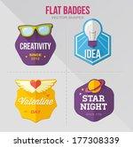 flat vector badges | Shutterstock .eps vector #177308339