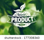 natural products poster  vector ... | Shutterstock .eps vector #177308360