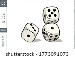 Dices Vector Illustration  ...