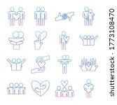 degraded line style icon set... | Shutterstock .eps vector #1773108470