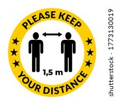 please keep your distance... | Shutterstock .eps vector #1773130019