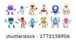 set of happy funny cartoon... | Shutterstock .eps vector #1773158906