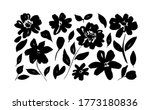 spring flowers hand drawn... | Shutterstock .eps vector #1773180836