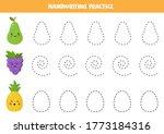 handwriting practice with cute... | Shutterstock .eps vector #1773184316
