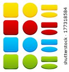 set of color web buttons | Shutterstock .eps vector #177318584