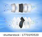 set of three layer surgical... | Shutterstock .eps vector #1773193520