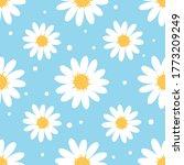 Daisy Flower Seamless Pattern...