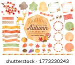 set of watercolored seasonal... | Shutterstock .eps vector #1773230243