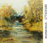Landscape With River And Birch...