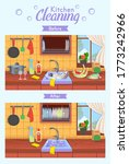 clean and dirty kitchen.... | Shutterstock .eps vector #1773242966
