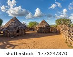 Small photo of Hamar Village. The Hamar people are a primitive tribe in South Ethiopia, Africa