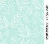 seamless blue floral background ...