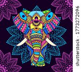 boho elephant pattern. vector...   Shutterstock .eps vector #1773272096