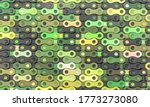 Bicycle Chain Links In Green...