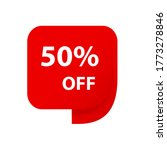 sale 50  off discount sticker...
