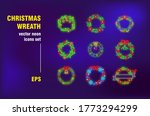 christmas wreathes neon signs... | Shutterstock .eps vector #1773294299
