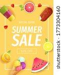 set of summer fruits on the... | Shutterstock .eps vector #1773304160