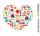 travel and tourism background | Shutterstock .eps vector #177330833