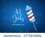 text 4th of july and firework...   Shutterstock . vector #1773314006