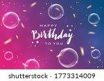 lettering happy birthday on...   Shutterstock . vector #1773314009