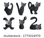 kids cartoon cat alphabet set... | Shutterstock .eps vector #1773316970