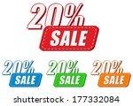 20 percentages sale  four... | Shutterstock .eps vector #177332084