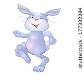 funny bunny on a white... | Shutterstock .eps vector #177332384