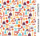 travel and tourism background | Shutterstock .eps vector #177334070
