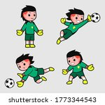 Mascot Of A Goalkeeper With...