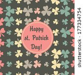 st. patrick 17 march retro... | Shutterstock .eps vector #177334754