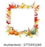 watercolor autumn illustration. ... | Shutterstock . vector #1773351260
