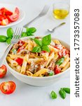 Penne Pasta In White Sauce With ...