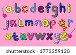 Alphabet In Pop Art Style. Abc...