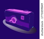 camera in trendy 3d style...
