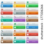 collection of flat color modern ... | Shutterstock .eps vector #177336266