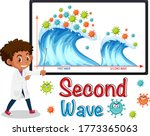 second wave of corona virus ... | Shutterstock .eps vector #1773365063