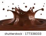 hot chocolate splash and...   Shutterstock .eps vector #177338333