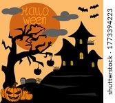 halloween background october... | Shutterstock .eps vector #1773394223