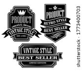 vintage and retro badge label...   Shutterstock .eps vector #1773400703