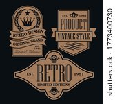 vintage and retro badge label... | Shutterstock .eps vector #1773400730