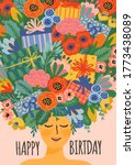 happy birthday. vector... | Shutterstock .eps vector #1773438089