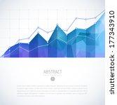 editable business diagram graph ... | Shutterstock .eps vector #177343910