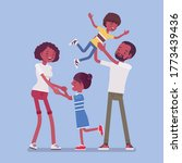 happy black family enjoy life....   Shutterstock .eps vector #1773439436